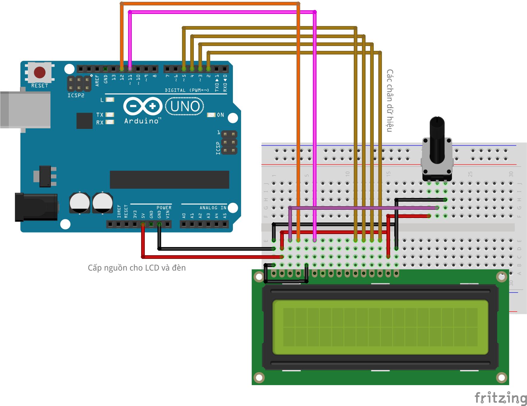 Điều khiển LCD1602 bằng Arduino UNO | Cộng đồng Arduino Việt Nam